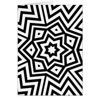 Modern Abstract Black and White design Card