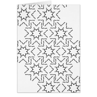 Modern Abstract Black and White design stickers Card
