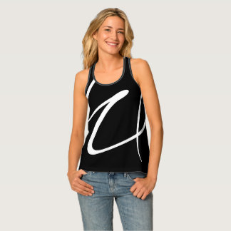 Modern Abstract Black And White Singlet