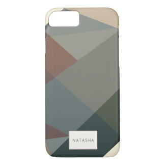 Modern, Abstract Brown iPhone 7 Case