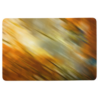 Modern Abstract Browns Yellows Floor Mat
