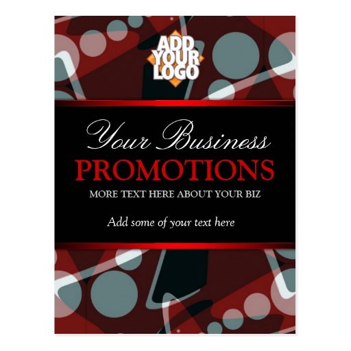 Modern Abstract Business Promotions Postcard templ