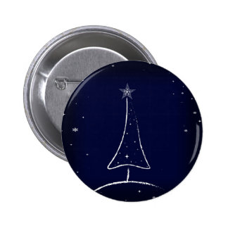 Modern Abstract Christmas Tree Buttons