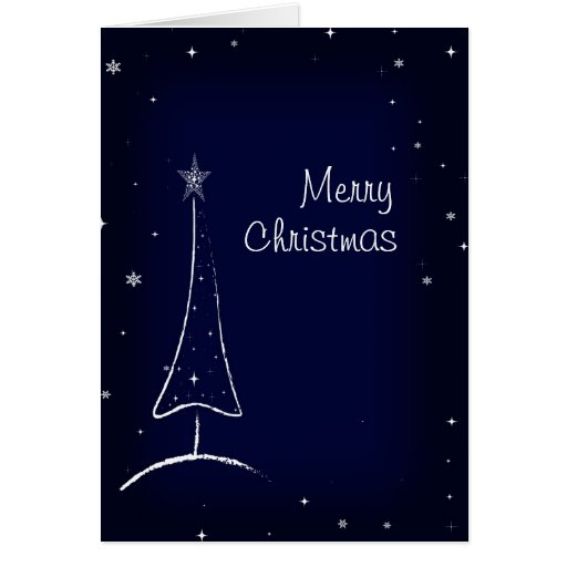 Modern Abstract Christmas Tree Greeting Card