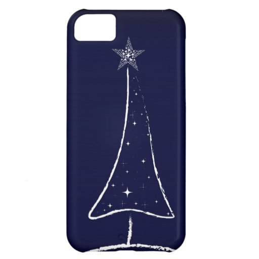 Modern Abstract Christmas Tree Case For iPhone 5C