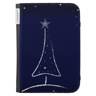 Modern Abstract Christmas Tree Cases For Kindle