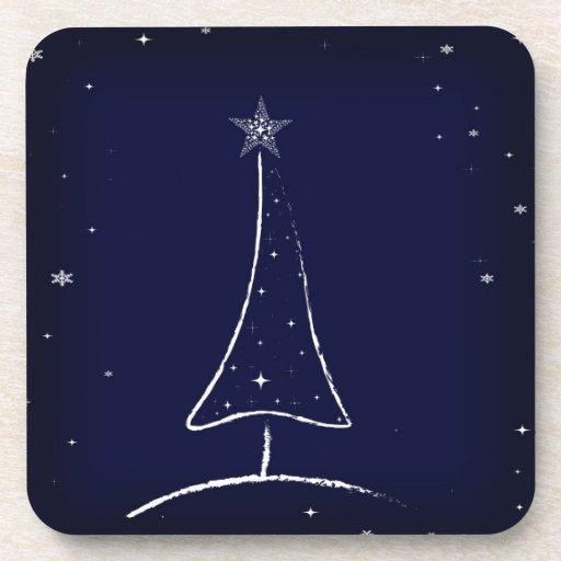 Modern Abstract Christmas Tree Drink Coaster