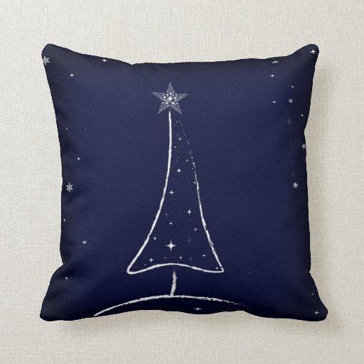 Modern Abstract Christmas Tree Throw Pillows