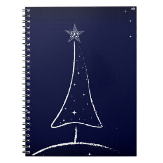 Modern Abstract Christmas Tree Notebook