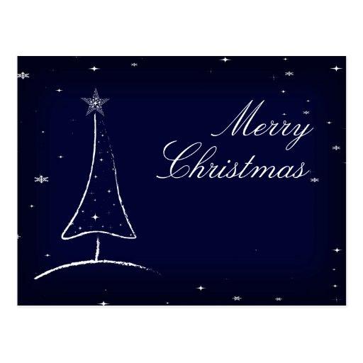 Modern Abstract Christmas Tree Postcard