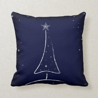Modern Abstract Christmas Tree Throw Pillow