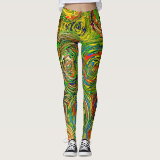 Modern abstract circle legging