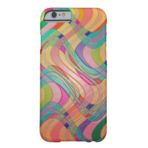 Modern Abstract Colorful Design Stained Glass Look Barely There iPhone 6 Case