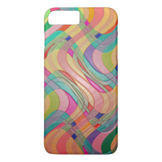 Modern Abstract Colorful Design Stained Glass Look iPhone 7 Plus Case