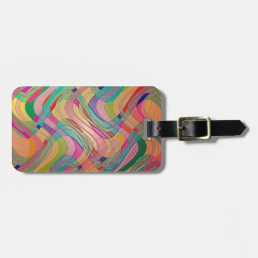 Modern Abstract Colorful Design Stained Glass Look Tag For Luggage