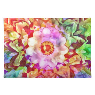 Modern Abstract Colorful Flower Placemat