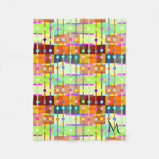 Modern Abstract Colorful Pattern Fleece Blanket