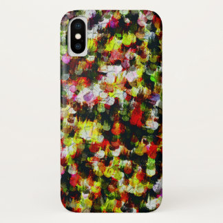Modern abstract colorful pattern iPhone x case