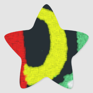 Modern abstract colorful pattern star sticker