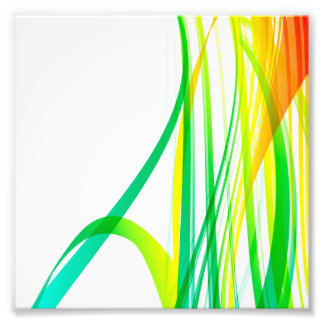 Modern Abstract Colorful Swirls Photo Print