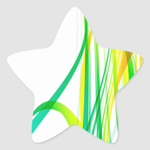 Modern Abstract Colorful Swirls Star Stickers