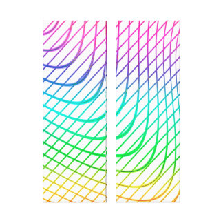 Modern Abstract Colourful Line Art Canvas Print