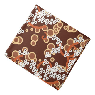Modern Abstract Confetti Print, Chocolate Brown Bandana
