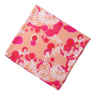 Modern Abstract Confetti Print, Coral and Fuchsia Bandana