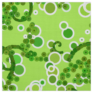 Modern Abstract Confetti Print, Lime Green Fabric