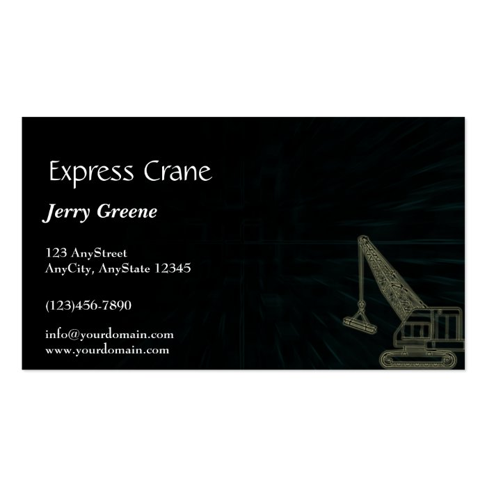 Modern Abstract Cube Construction Business Card
