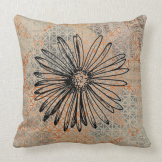 Modern Abstract Dahlia Cotton Throw Pillow