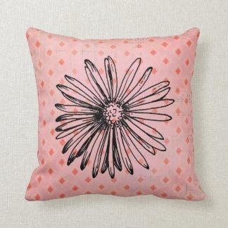Modern Abstract Dahlia Flower Throw Pillow