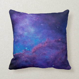 Modern Abstract Deep-Space Blue & Purple Cushion