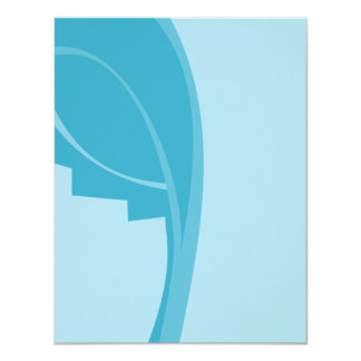"Modern Abstract Design. 4.25"" X 5.5"" Invitation Card"