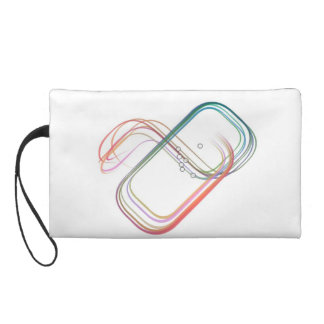 Modern abstract design wristlet