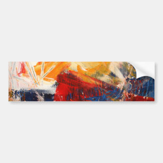 Modern Abstract Expressionism Bumper Sticker