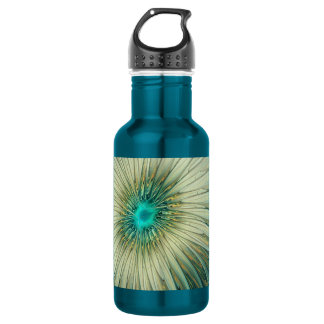 Modern Abstract Fantasy Flower Turquoise Wheat 532 Ml Water Bottle