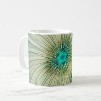 Modern Abstract Fantasy Flower Turquoise Wheat Coffee Mug