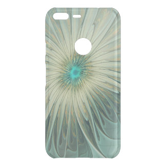 Modern Abstract Fantasy Flower Turquoise Wheat Uncommon Google Pixel XL Case