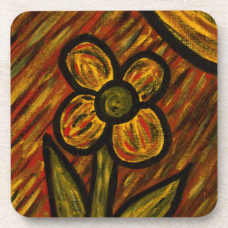 Modern Abstract Flower Coaster