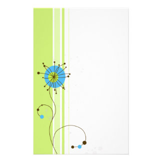 Modern Abstract Flower Design - Stationery