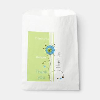 Modern Abstract Flower - Thank you Favor Bag