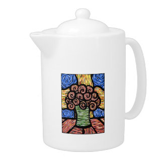 Modern Abstract Flowers In Vase