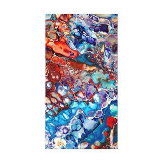 Modern Abstract Fluid Acrylic - Colorful Canvas Print