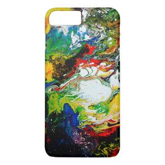 Modern Abstract Fluid Art Phone Case Apple iPhone7