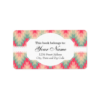 Modern Abstract Geometric Pattern Label