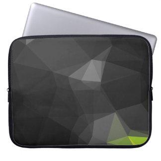 Modern Abstract Geometric Pattern - Midnight Grass Laptop Sleeve