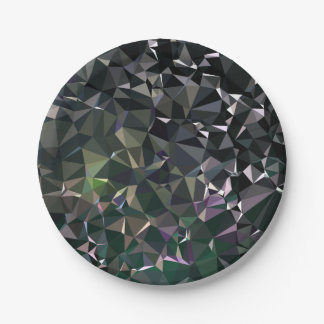 Modern Abstract Geometric Pattern - Night Dock Paper Plate