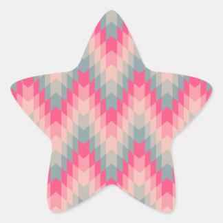 Modern Abstract Geometric Pattern Star Sticker