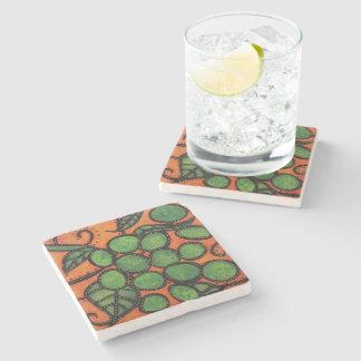 Modern Abstract Grapes Stone Coaster